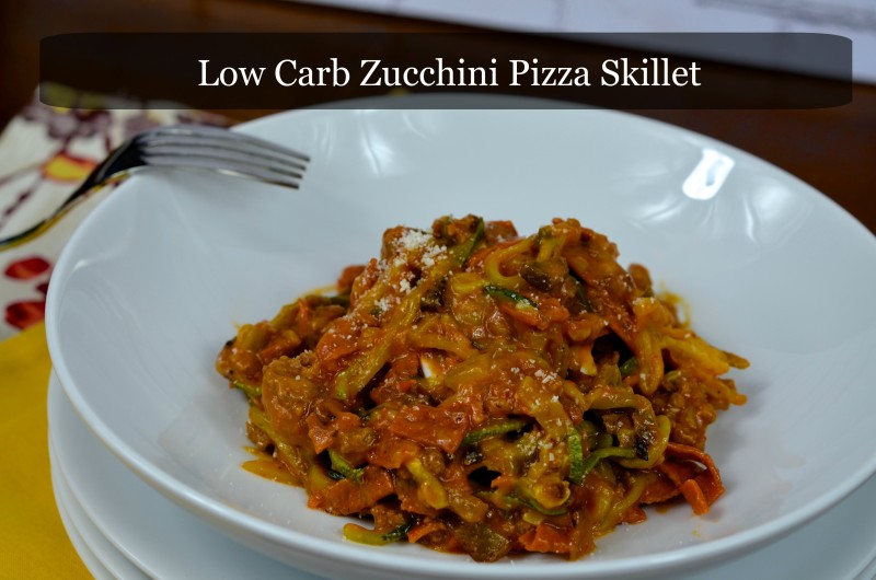 Low Carb Zucchini Pizza Skillet