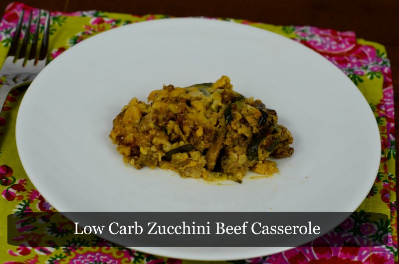 Low Carb Zucchini Beef Casserole Text