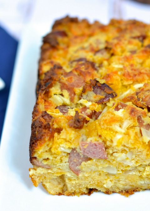 Copy Cat Low Net Carb Bourque's Sausage Cheese Bread
