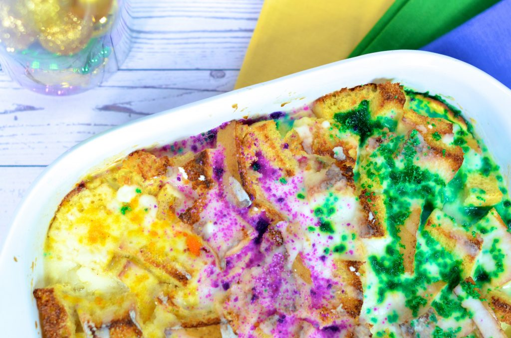 Easy Low Net Carb King Cake Bread Pudding