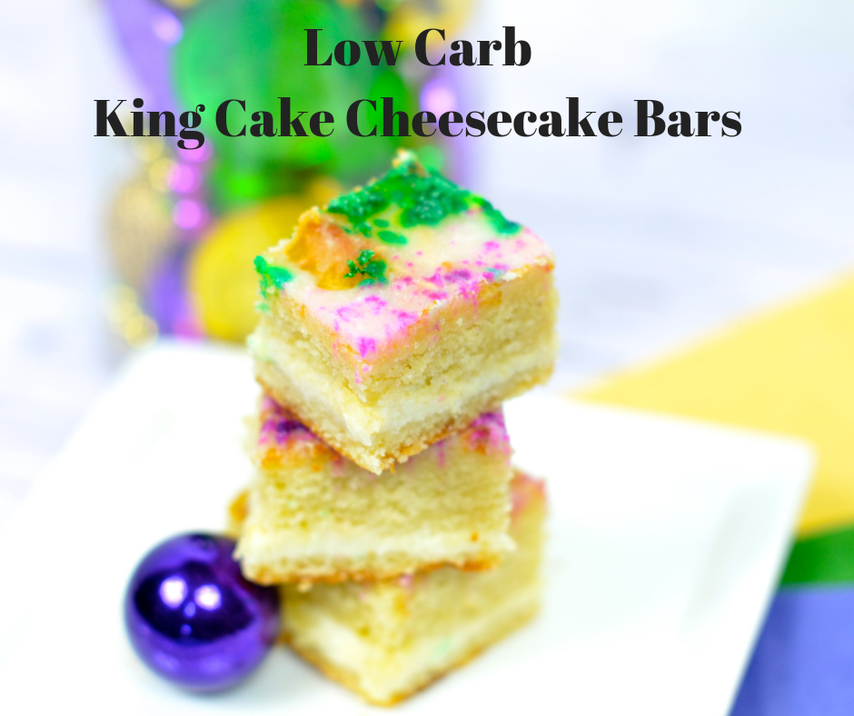 Low Carb King Cake Cheesecake